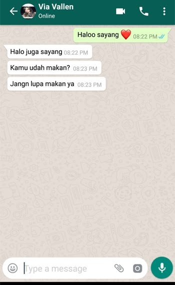Contoh Membuat Pesan Palsu WhatsApp